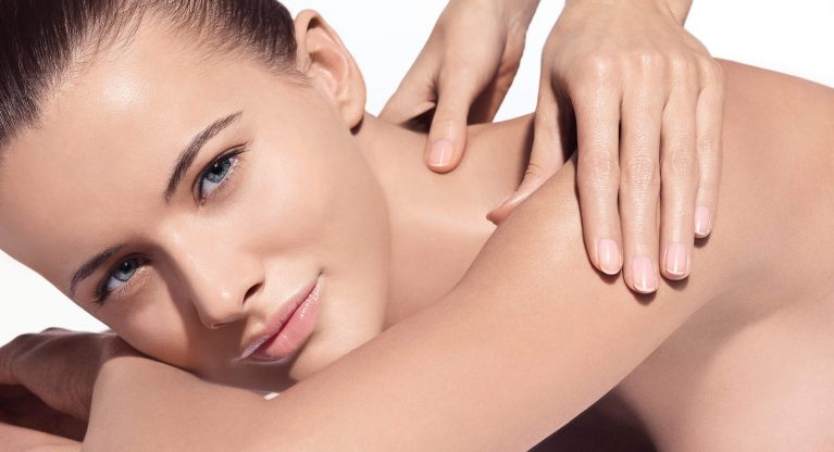 Face, neck and decolletage massage